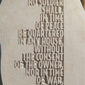 AMENDMENT III - Text close-up