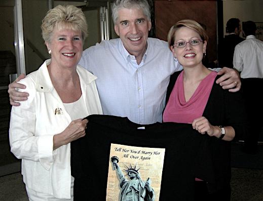 Senator Karen Johnson, MBOR Executive Director Chris Bliss and Representative Kyrsten Sinema (left to right)